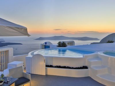 Photo for BlueVillas | Villa Iokasti | Freshwater pool & outdoor heated jacuzzi with view