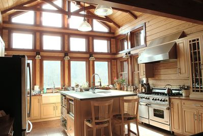Large bright open commercial equipped Kitchen