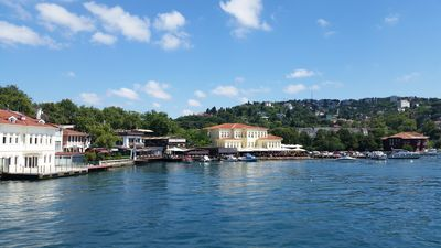 The Cengelkoy neighborhood from the water