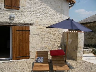 Chilling out in the charente sunshine - the 2nd sunniest region of France.