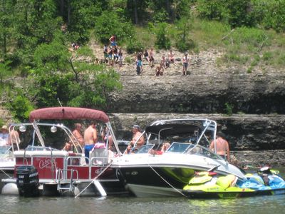 Grand lake dripping springs waterfront mill homeaway for Grand lake oklahoma cabin rentals