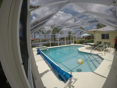 Photo for NEW Htd Pool&Spa 2bd/2ba/2docks/5 Gulf Access canals $735wk