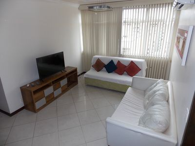 Photo for Ap. 1301: 2 Rooms (1suite), 1 garage, renovated, in the heart of Icaraí, 80m from the Beach