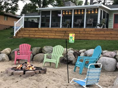 Sand beach area for bon fires & smores!