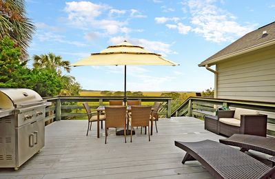 Photo for Set on a Marsh, Across from the Beach - 4BR w/ Private Dock & Kayaks