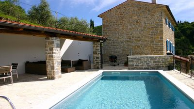 Photo for Villa Kentic Stone Holiday house with pool and stunning views