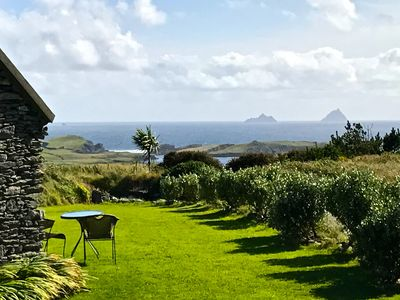 Photo for Romantic Valentia Island Cottage with Fireplace Spectacular Views of Skelligs!