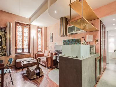 Photo for Apartment 1.3 km from the center of Rome with Internet, Lift, Washing machine (18125)
