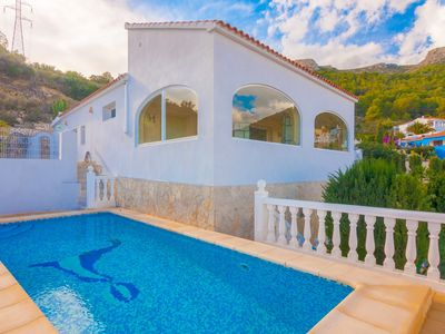 Photo for CUCARRES, villa in the hills of Calp, with sea views