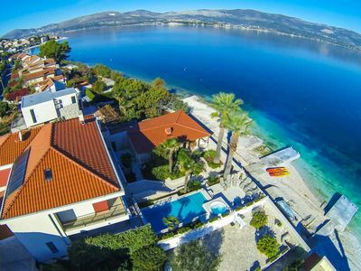 Photo for Large Beach Front Villa with Pool near Trogir Old Town