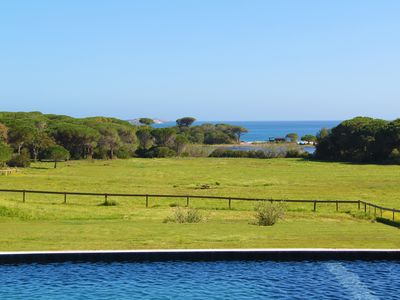 Photo for Exceptional Sea View with Pool, 300m Palombaggia beach, private access