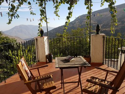 Photo for Lovely village house with terrace, grapevine and spectacular mountain views