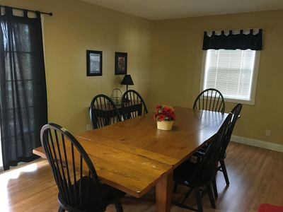 Large  dining room, can seat 8 or more