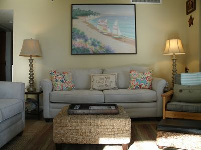 """Photo for Oceanfront Beach """"Cottage""""  Condo (2 Bed/2 Bath) Accommodates Six"""