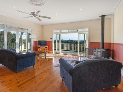 Photo for Family Homestead Great Ocean Road, Wood Fireplace, 10 acres with river, WiFi