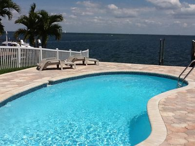 Photo for Exceptional St. Petersburg Bay-Front House W/ Pool & Deep-Water Dock