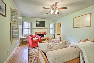 Up to 8 guests can stay in this 3-bed, 2-bath home.