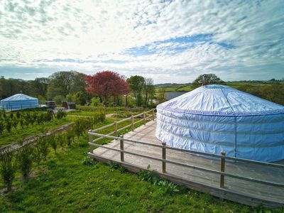 Photo for Hydrangea Yurt - A spacious Mongolian-inspired Yurt in stunning eco-friendly estate near Newquay