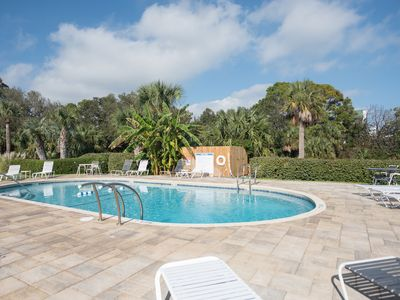 Photo for Steps from the pool and ocean! Four-level East Beach townhome with elevator!