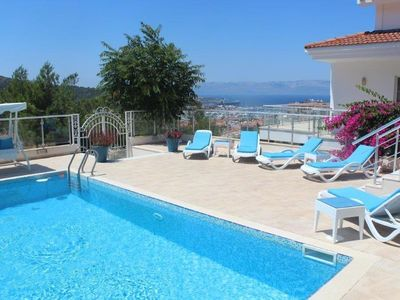 Photo for Villa with Private Pool and Sea Views, Fully Air Conditioned Throughout