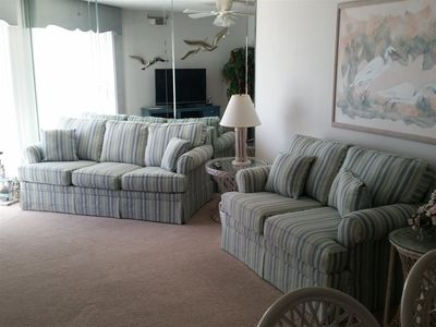 Photo for Beautiful 2 BR/2 BATH condo with ocean view and private deck!