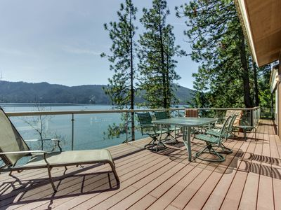 Photo for Dog-friendly waterfront home w/ dock & boat slip boasts amazing views!