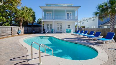 Photo for 20% OFF Jan. 1 - March 6 2020! Private Pool ~ Only 4 houses away from beach