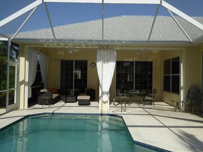 Photo for VILLA WHITE IBIS luxury, western exposure, 3 Bed, 3 Bath, Hot Tub and Boat (fee)