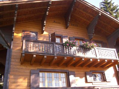 Photo for Typical chalet with fantastic views