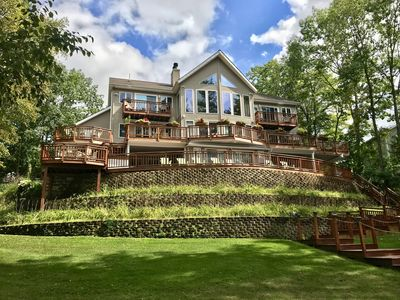 Photo for Terrace on the Lake, Spectacular Large Home with Private Beach