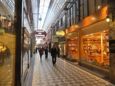 Beautiful arcades with ancient shops