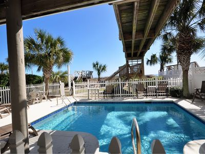 Photo for EXTREME OCEANFRONT - Private Pool full sun/Free Linens/hot tub/ spec fall weeks
