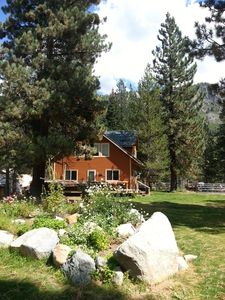 Photo for Chalet on River 3 Bd, Hot tub Family & Dog Friendly hike, bike, play, quiet area