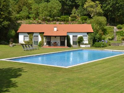 Photo for Detached house in the middle of nature with private pool and tennis court