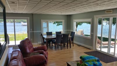 Photo for LakeFront Home W/ Guest House 200ft Beach Panoramic Views Sleeps 10