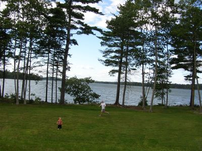 Ocean view from the deck & large lawn to play on