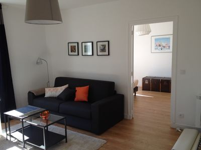 Photo for Apartment 4 people nine 10 'ramparts and the beach classified 4stars