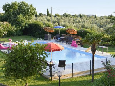 Photo for 2 bedroom Villa, sleeps 4 in Pacchione with Pool, Air Con and WiFi