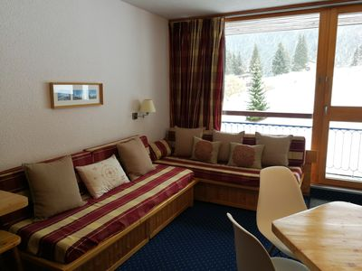 Photo for ARC 1800. Comfortable studio, residence Pierra Menta, in the heart of the resort