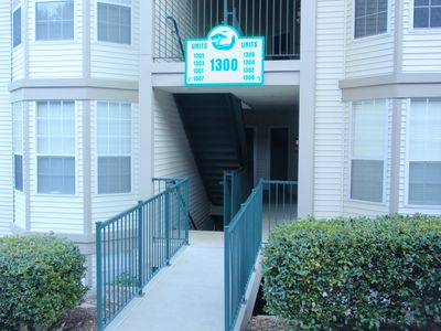 Side by side walk-in units 1303 and 1304 in building 1300.