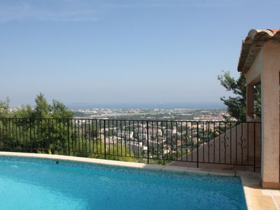 Photo for Villa Mandelieu la Napoule superb sea view and Cannes