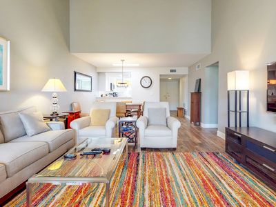 Photo for NEW LISTING! Modern condo w/shared hot tub, pool, tennis - convenient location