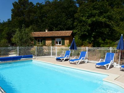 """Photo for Les Hauts du Coustalier, cottage """"jade"""" for 5 people with heated pool"""