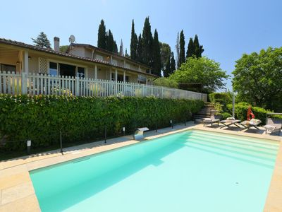 Photo for Stunning private villa with private pool, A/C, WIFI, TV, balcony, pets allowed and parking