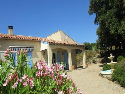 Photo for Air-conditioned holiday villa with solar heated pool and stunning views