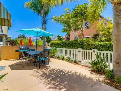Photo for ☀️ FAMILY VACATION READY 🏖 Ground Floor, Private Sunny Patio, BBQ, Parking!