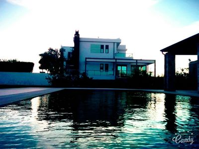 Photo for 6BR Villa with pool in Loutraki ......