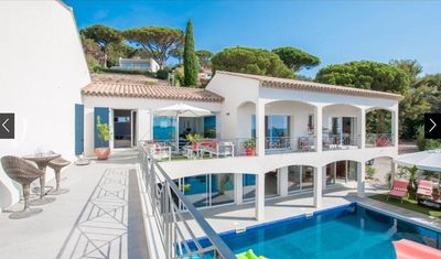 Photo for New! Dream villa Primerose with breathtaking sea view, airco and heated pool!