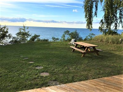Photo for Cute Lakefront Cottage on Lake Michigan.  Stunning View Just Steps to the Lake