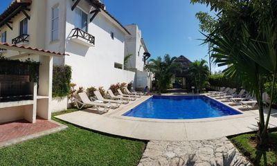 Photo for Vacation Rental House at Riviera Maya for 10 guests 2 bedrooms, pool, grill